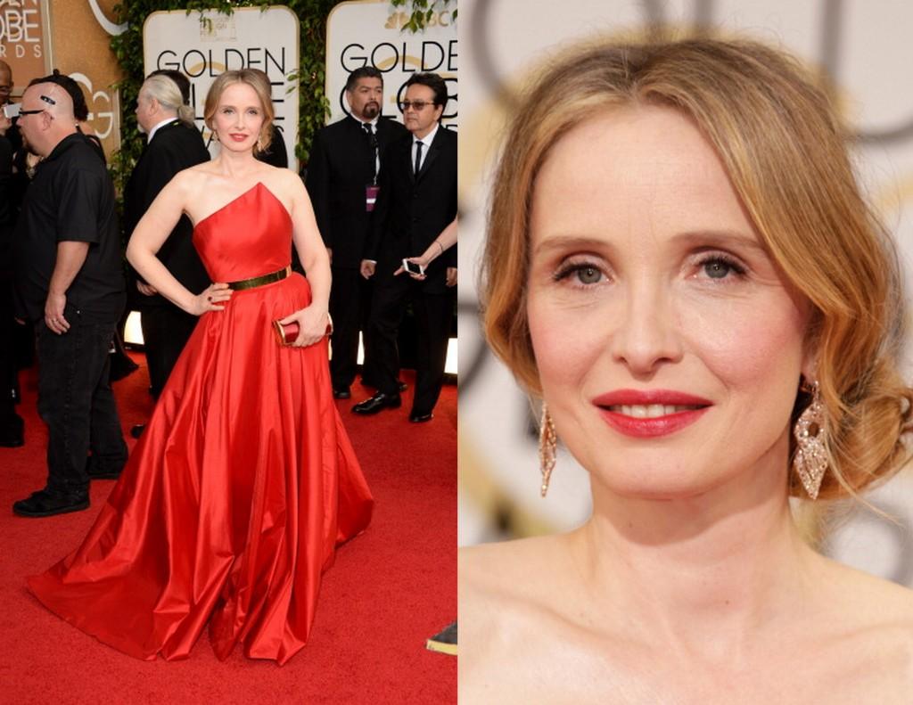 Julie-Delpy-in-Romona-Keveza-2014-Golden-Globe-Awards-red-dress
