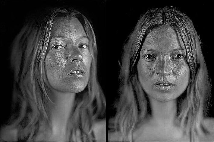 Kate Moss par Chuck Close