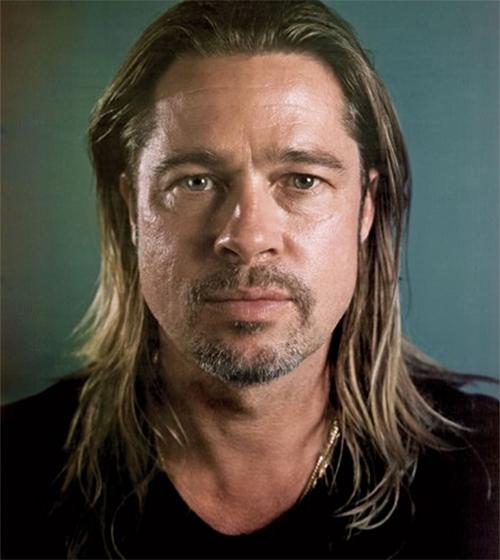 Brad Pitt par Chuck Close
