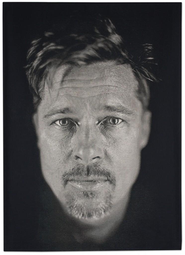 Bradd Pitt par Chuck Close