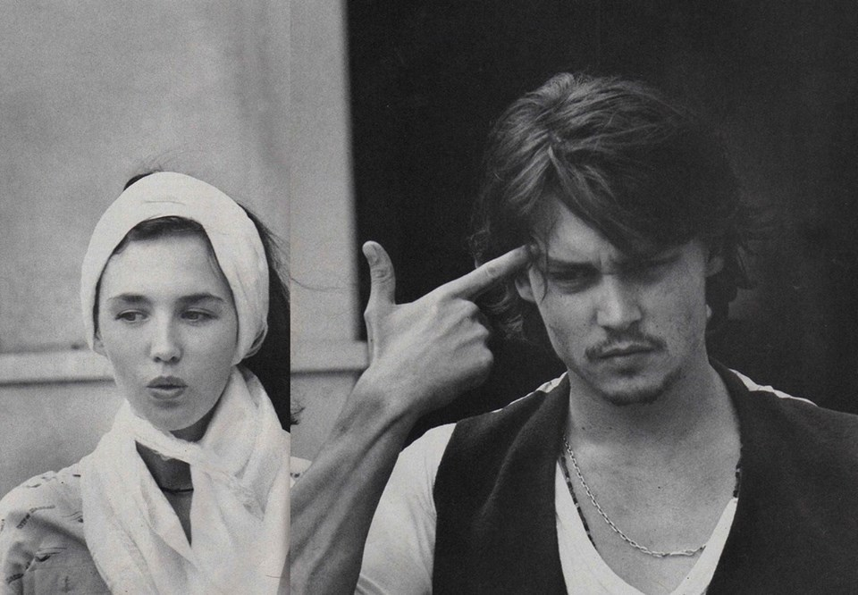 Johnny Depp et Isabelle Adjani photographiés par François Marie Bannier
