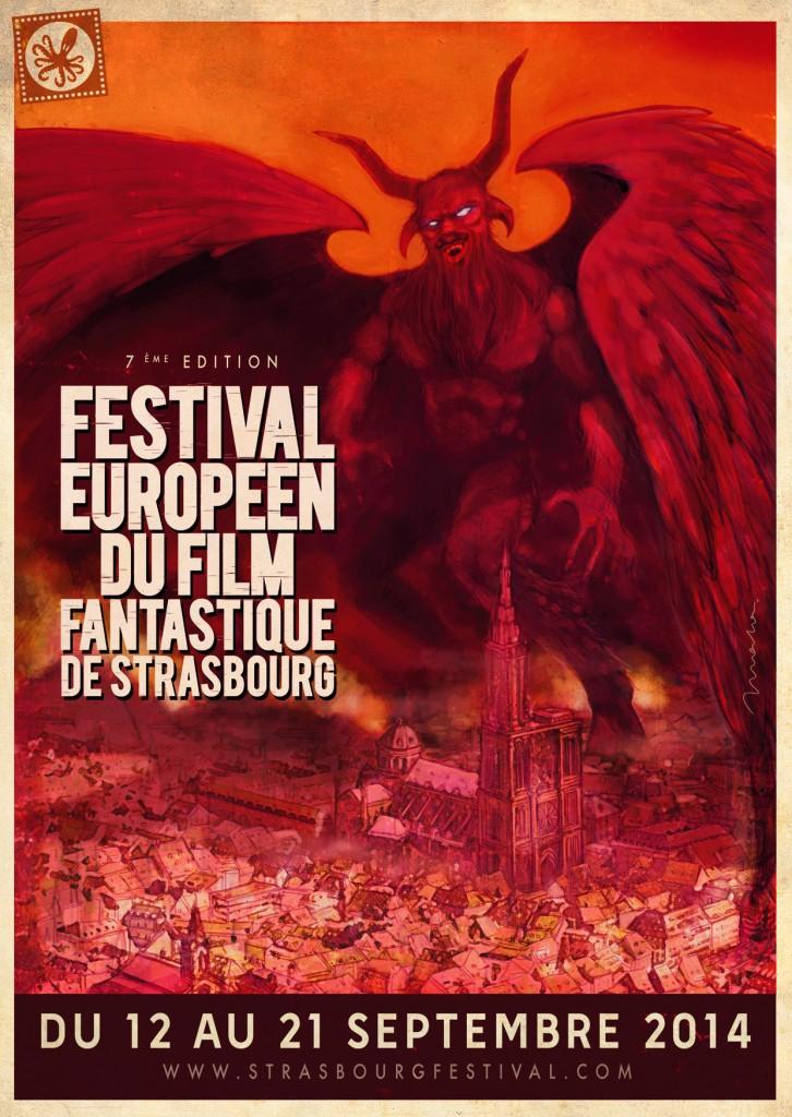 Affiche festival film fantastique Strasbourg