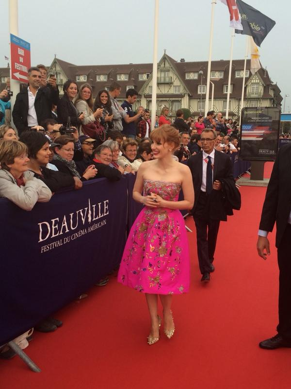 jessica Chastain sur le tapis rouge