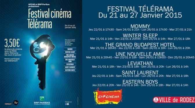 Le festival Télérama du 21 au 27 Janvier