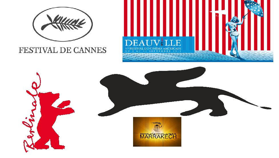 festivals de Cannes, Deauville, Dinard, ...
