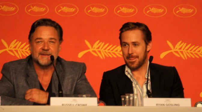 Ryan Gosling et Russel Crowe en conférence de presse