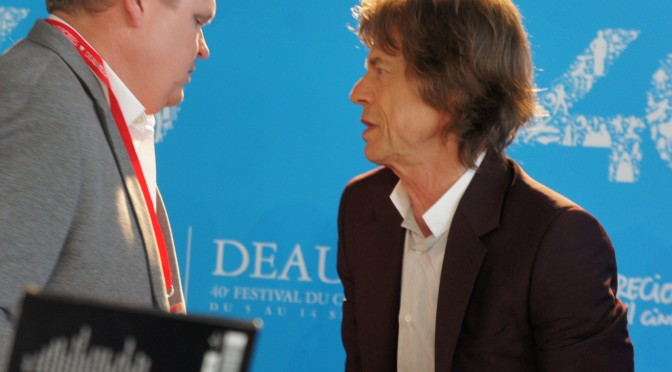 Mick Jagger vient présenter Get On Up à Deauville